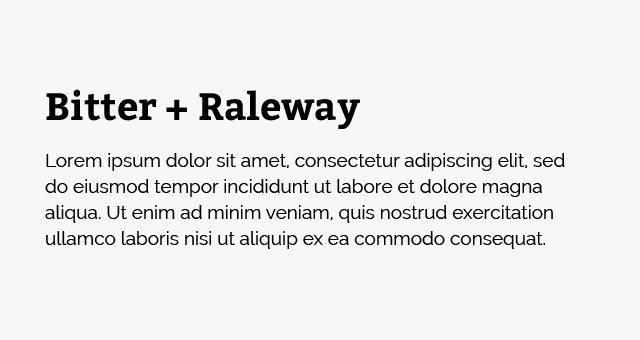 Bitter-Raleway