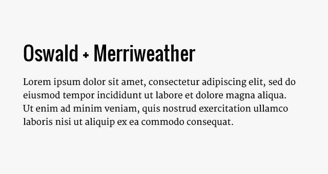 oswald-merriweather