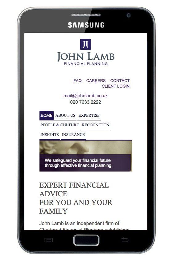 john-lamb-responsive-website-on-mobile-device