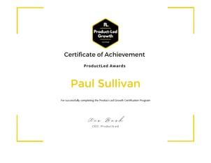 Paul Sullivan-Product-Led Growth Certification