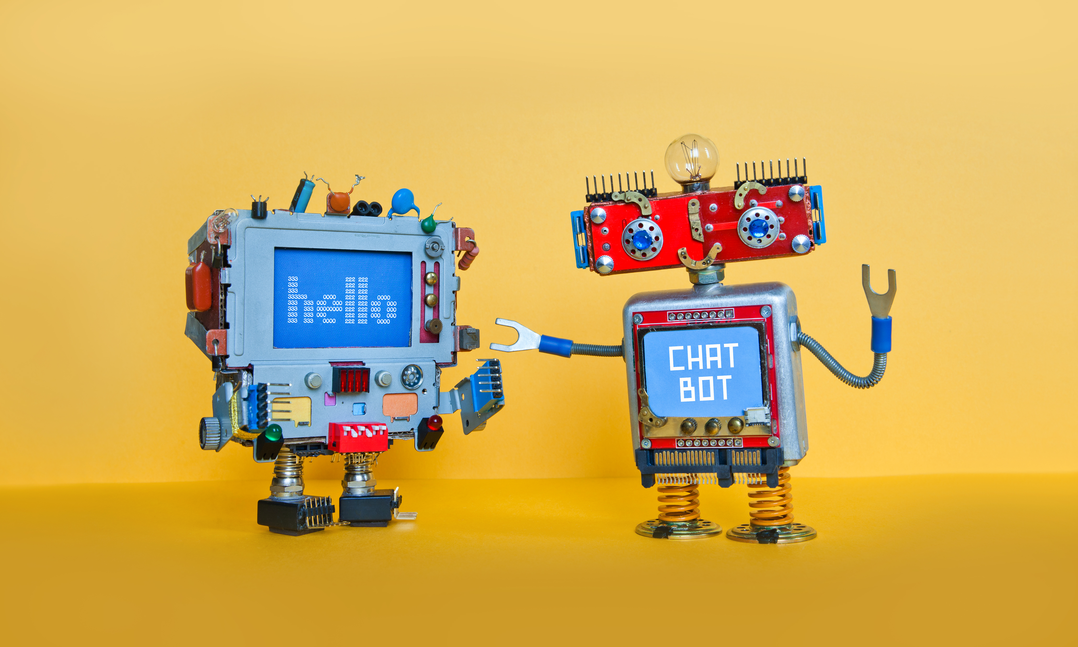 chat-bot-robot-welcomes-android-robotic-character--P8K9HG5