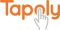 Tapoly-logo-orange-lightgrey-400x200-1